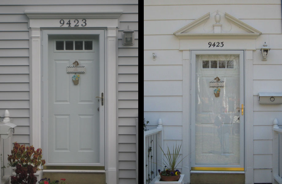doors before and after white