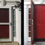 red door before and after