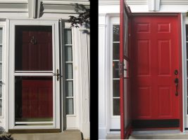 doors before and after red