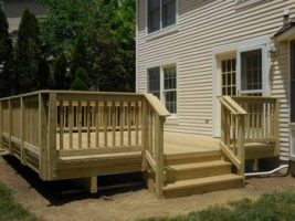 finished deck front view