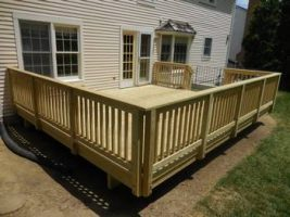 finished deck view from side