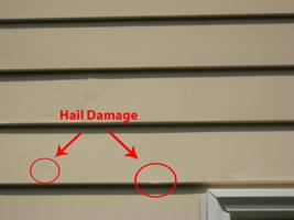 highlighted hail damage