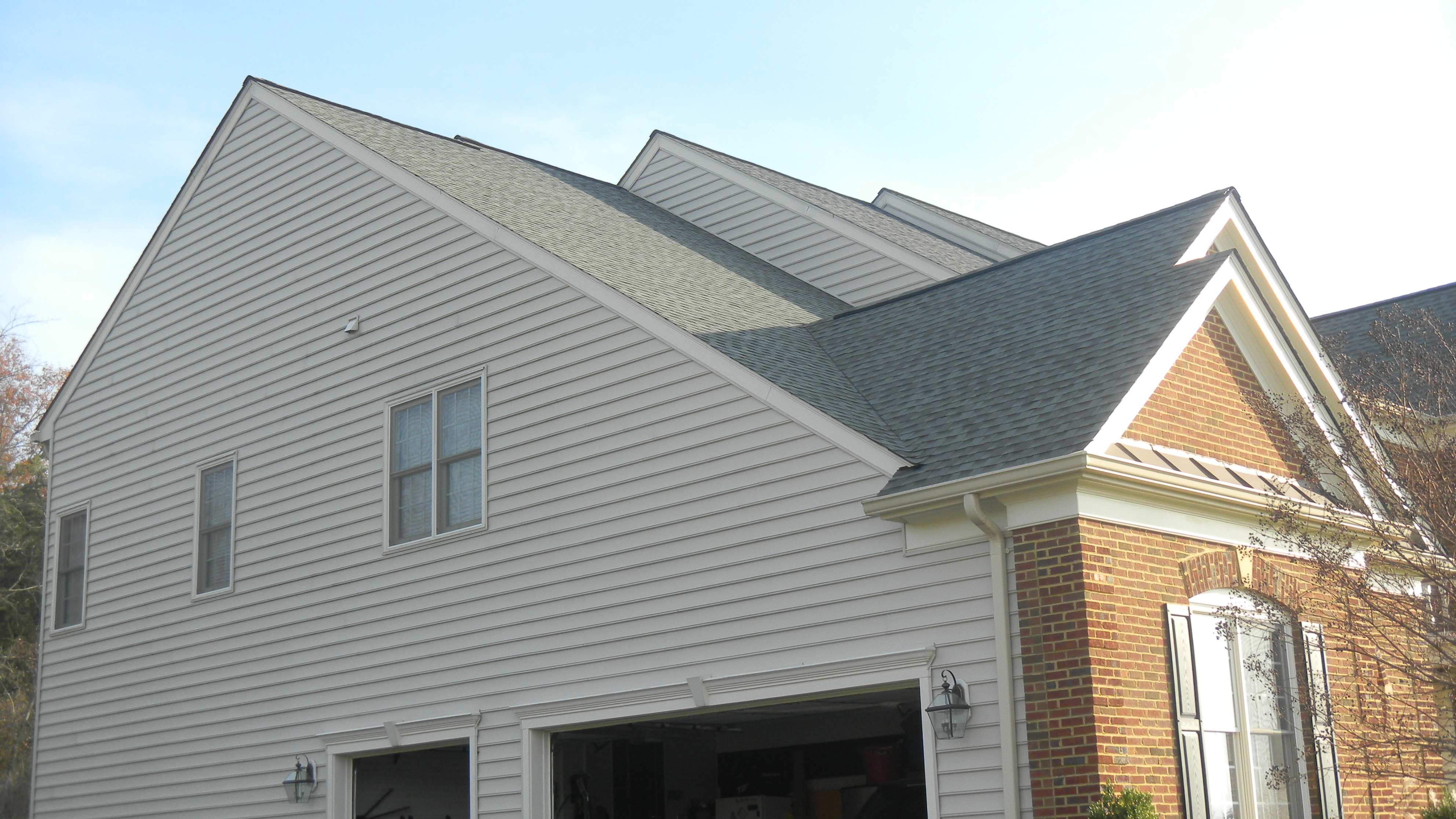 roofing after brown siding