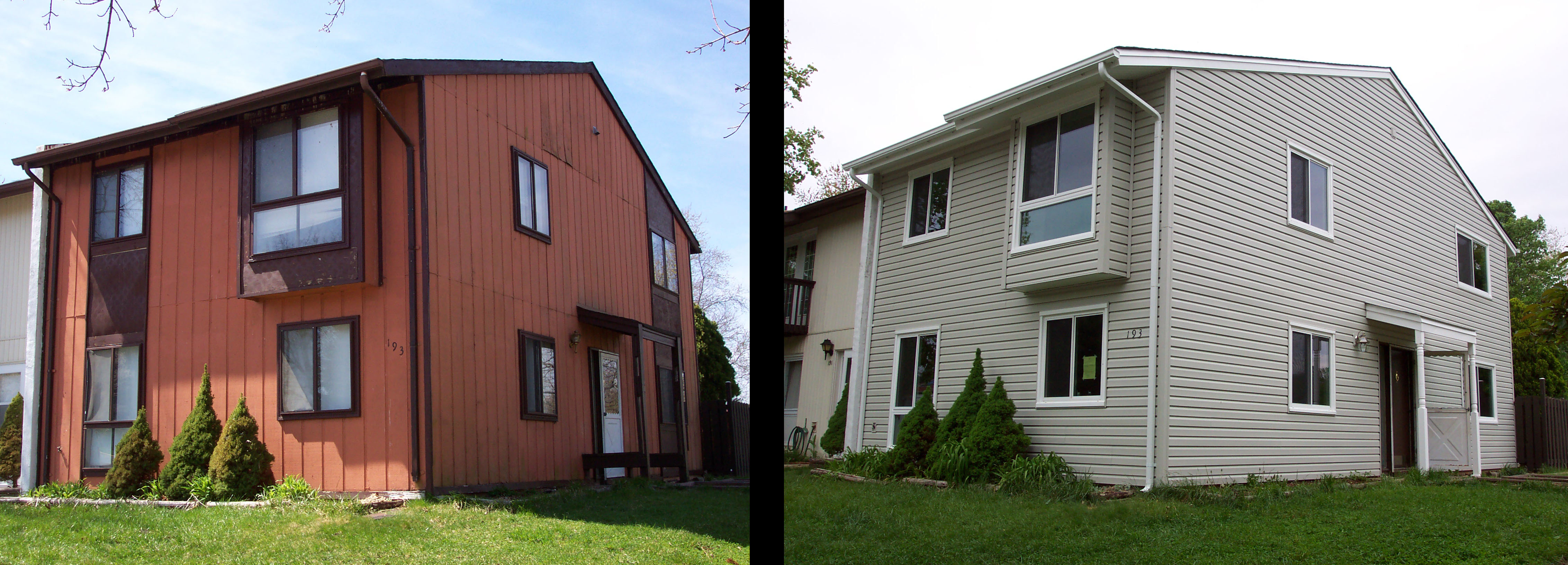 siding before and after corner view