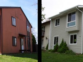 siding before and after view from side