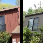 siding before and after brown house