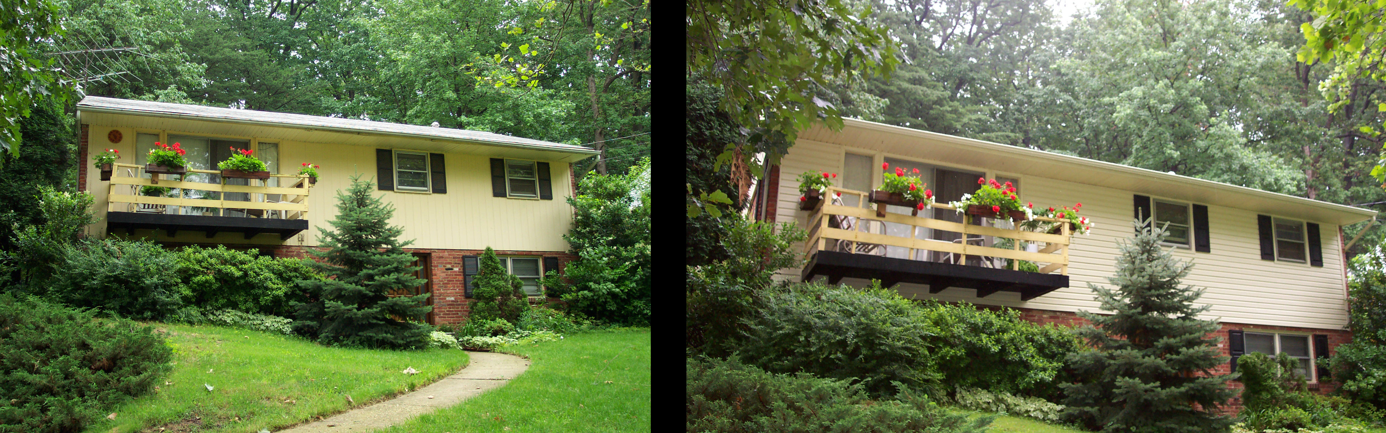 siding before and after yellow house