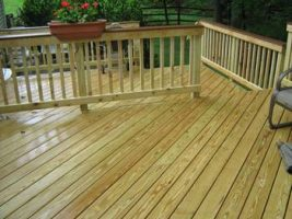 finished deck view
