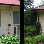 windows before and after yellow house