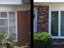 windows before and after brick house