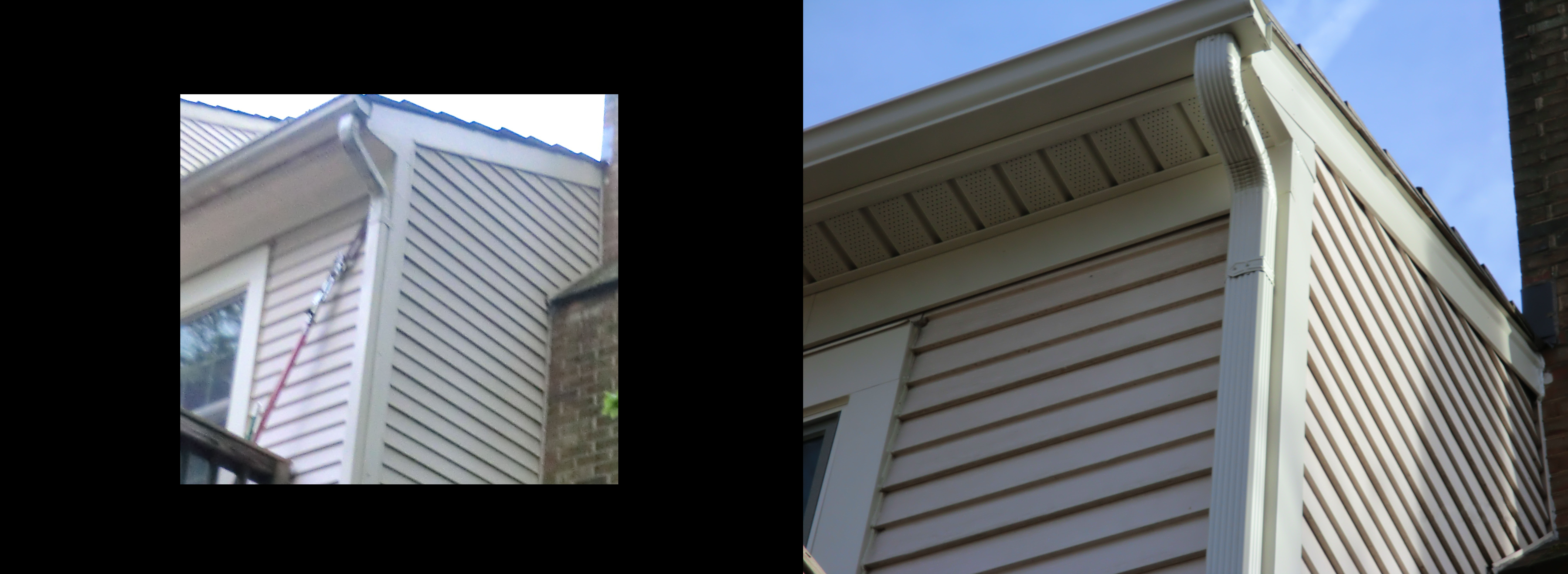 siding before and after corner